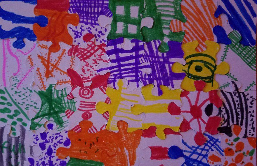 Child's puzzle artwork
