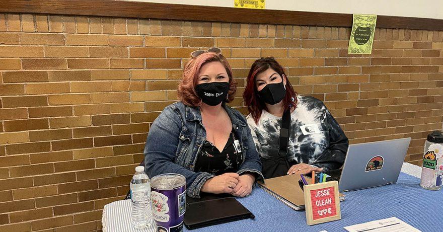 Jessica and Natasha at Coburn Place Services Fair