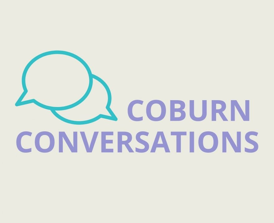 Talk bubbles plus words Coburn Conversations